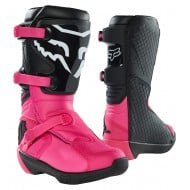FOX YOUTH COMP BOOT BUCKLE 2021 BLACK / PINK COLOUR