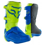 FOX YOUTH COMP BOOT BUCKLE 2021 YELLOW / BLUE COLOUR