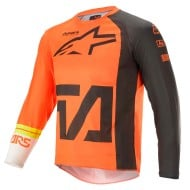ALPINESTARS YOUTH RACER COMPASS JERSEY 2021 COLOR NARANJA / ANTRACITA / BLANCO