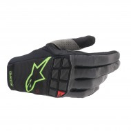 ALPINESTARS RACEFEND GLOVES 2021 BLACK / GREEN FLUO COLOUR