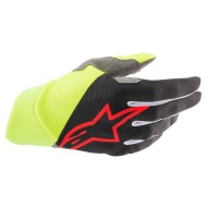 ALPINESTARS DUNE GLOVES 2021 BLACK / YELLOW FLUO / BRIGHT RED COLOUR