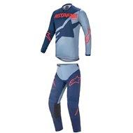 COMBO ALPINESTARS RACER BRAAP 2021 DARK BLUE / POWDER BLUE / BRIGHT RED COLOUR