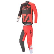 COMBO ALPINESTARS RACER COMPASS 2021 ANTHRACITE / FLUO RED / WHITE COLOUR