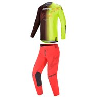 COMBO ALPINESTARS TECHSTAR PHANTOM 2021 BLACK / YELLOW / BRIGHT RED