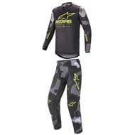 COMBO YOUTH ALPINESTARS RACER TACTICAL 2021 CAMO GREY / FLUO YELLOW COLOUR