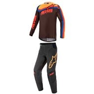 COMBO YOUTH ALPINESTARS RACER VENOM 2021 BLACK / BRIGHT RED / ORANGE