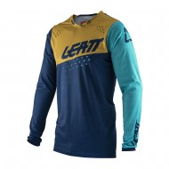 CAMISETA LEATT MOTO 4.5 LITE 2021 COLOR AZUL / DORADO