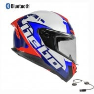 CASCO INTEGRAL HEBO FACE BLUETOOTH 2021 COLOR BLANCO