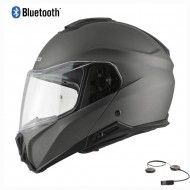 HEBO TOURER FLIP UP BLUETOOTH HELMET 2021 TITANIUM MATT COLOUR