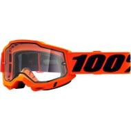 100% ACCURI 2 ENDURO GOGGLE 2021 FLUO ORANGE COLOUR - CLEAR LENS