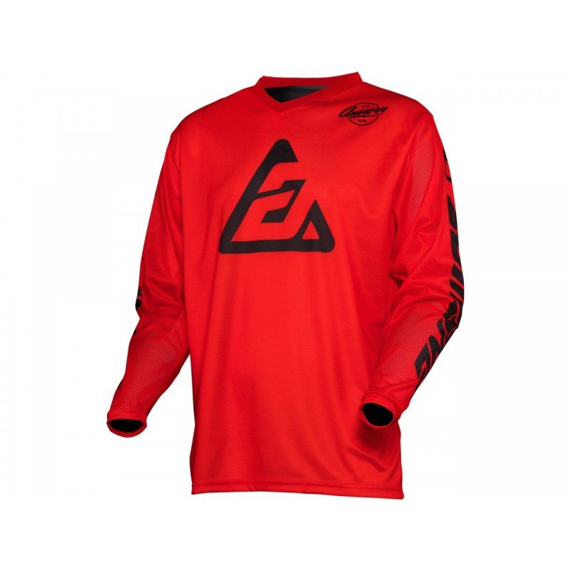 CAMISETA ANSWER ARKON BOLD 2021 COLOR ROJO/NEGRO