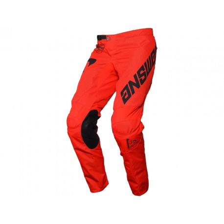 PANTALÓN ANSWER ARKON BOLD 2021 COLOR ROJO/NEGRO