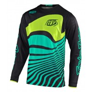 TROY LEE GP AIR DRIFT JERSEY 2021 BLACK / TURQUOISE COLOUR