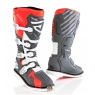 ACERBIS X-RACE BOOTS RED / GREY COLOUR
