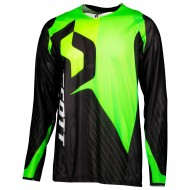 OFFER SCOTT JERSEY 450 ANGLED LIGHT COLOUR BLACK/GREEN
