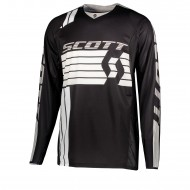 OFFER SCOTT JERSEY 450 PODIUM COLOUR BLACK/WHITE - SIZE M