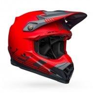 BELL MOTO-9 FLEX LOUVER HELMET COLOUR GRAY / RED MATTE