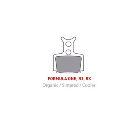PASTILLAS DE FRENO BICICLETA ONOFF SINTÉTICAS PARA FORMULA ONE / R1 / RX