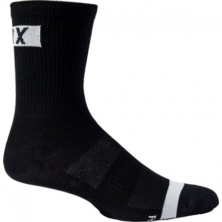 CALCETINES BICICLETA FOX FLEXAIR 6 MERINO COLOR NEGRO