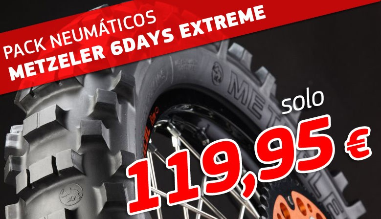 PACK NEUMATICOS METZELER SIX DAYS EXTREME