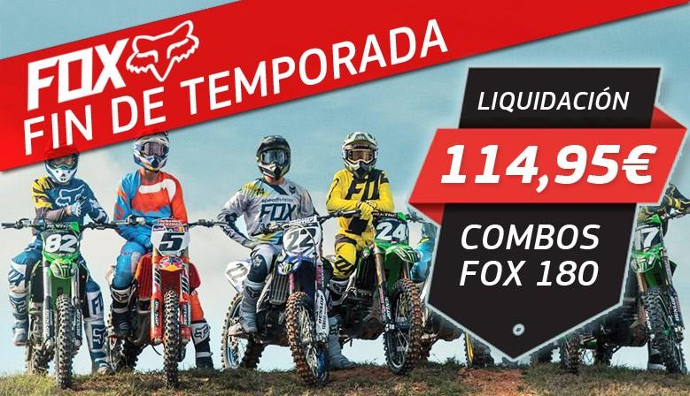 OFERTA COMBOS FOX 180 2018 FIN DE TEMPORADA