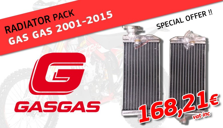 Special radiator pack for Gas Gas